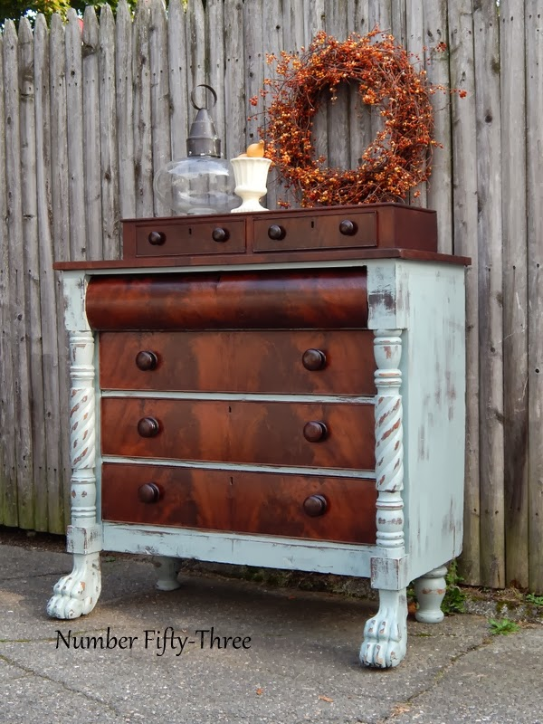 Number Fifty Three Antique Two Toned Dresser
