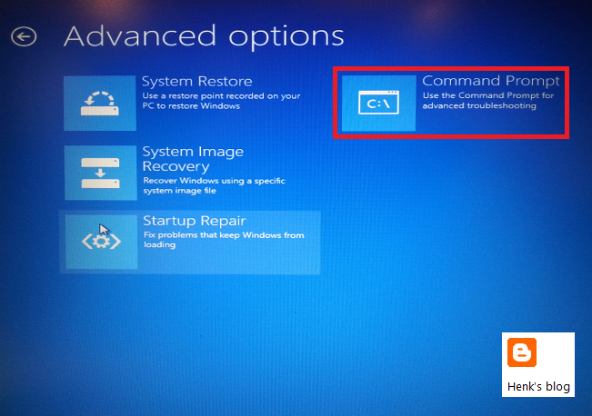 System recovery options 2008 r2