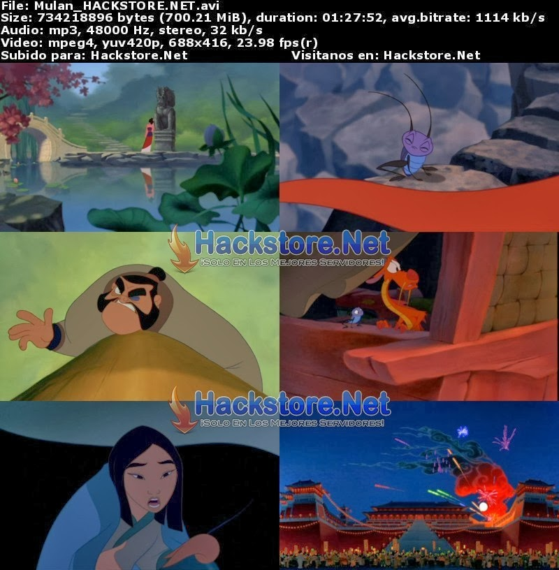 Captura Mulan 1 (1998) DVDRip Latino