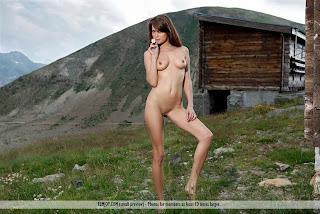Megamodelo XX en la montaña