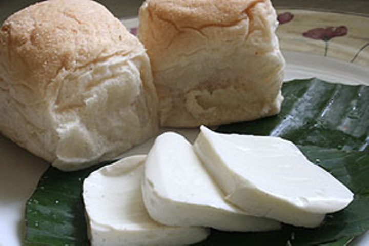 "Kesong Puti"" is best served in the morning with hot pan de sal and"