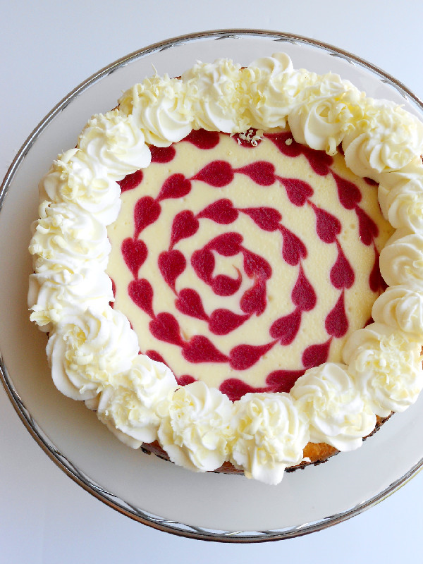 ... make it even better with this white chocolate raspberry cheesecake