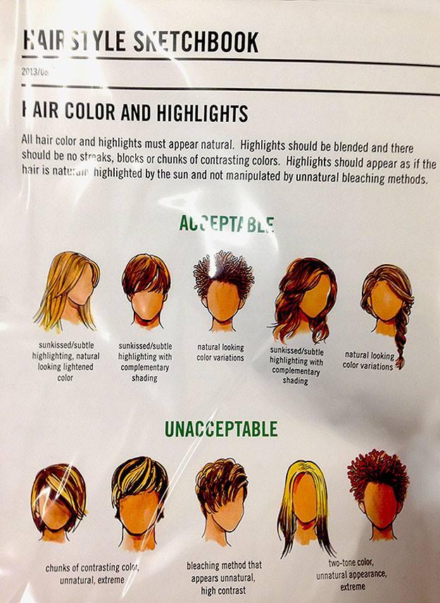 Dress code hair style