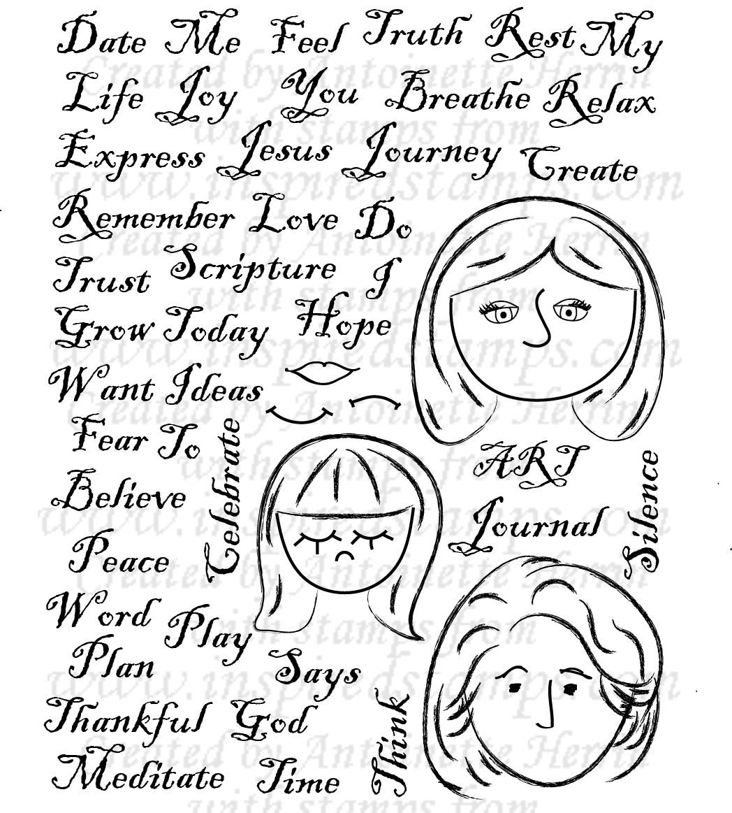 Scrapbook ideas words - Art Journal Words And Faces Is Perfect For Cards Scrapbook Pages And Art Journaling