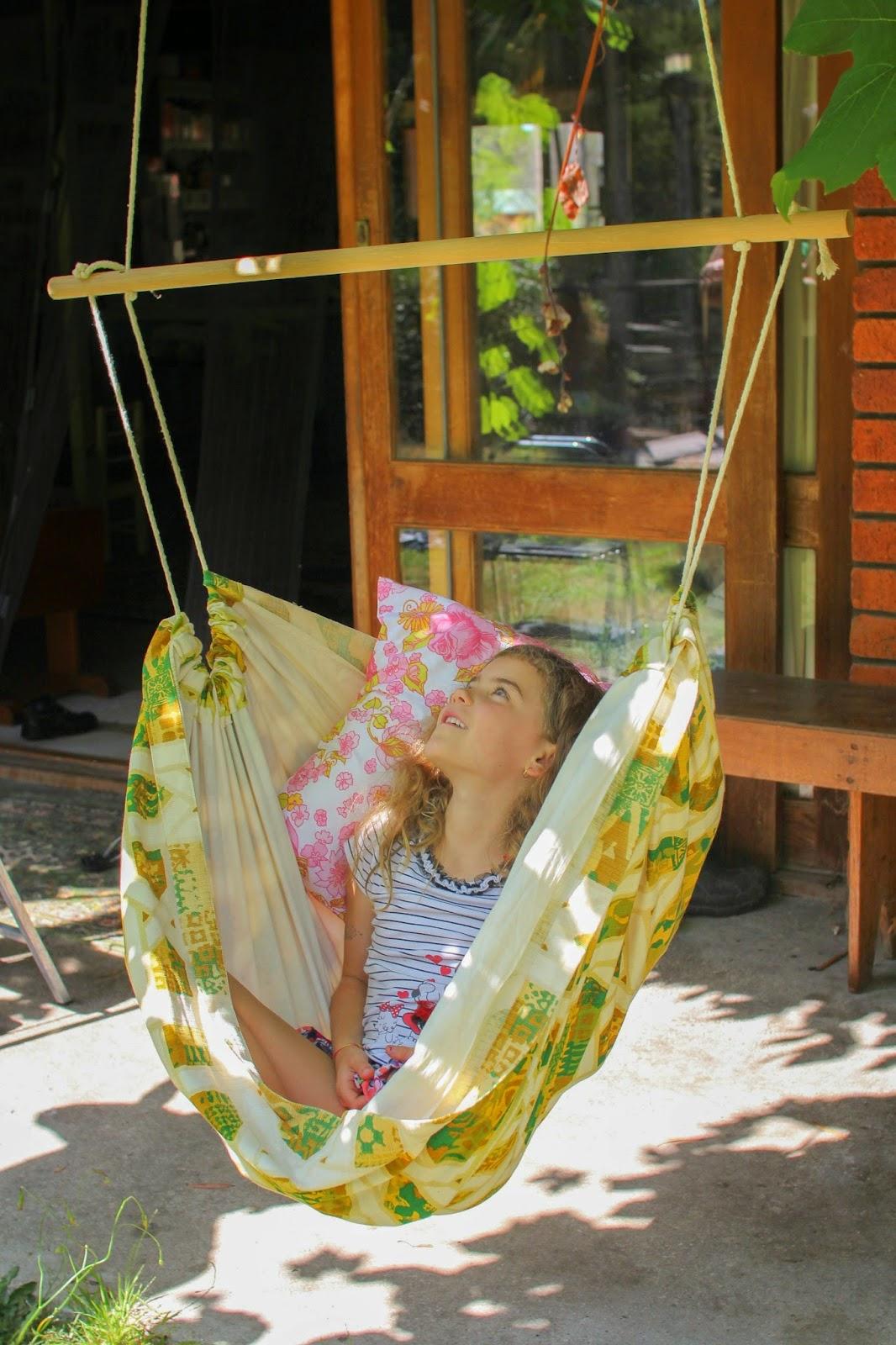 Diy kids hammock chair michelle walker for Diy kids swing