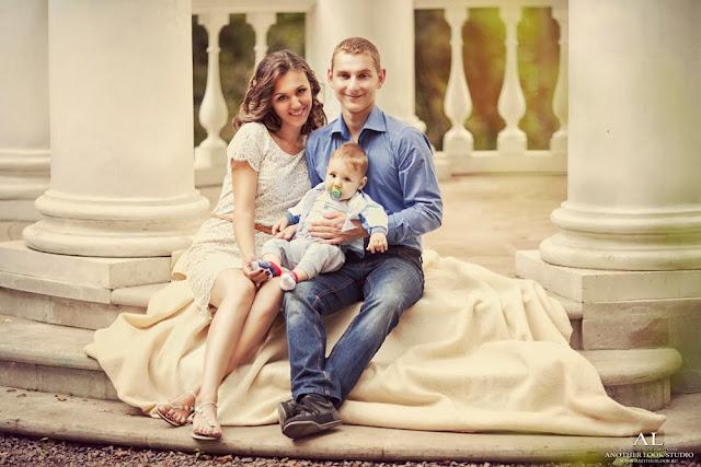 фотосессия мама папа я - веселая семья