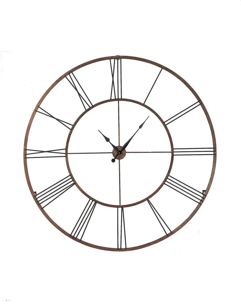 Total fab oversized giant metal wall clocks huge 50 modern iron metal wall clock with roman numerals amipublicfo Choice Image