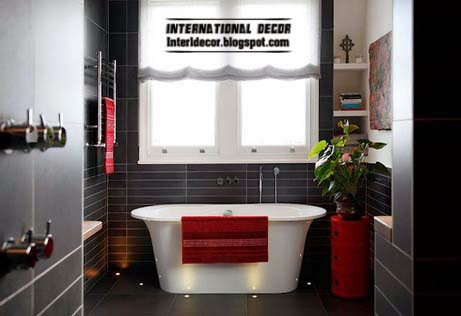 black bathroom, black tiles for bathroom and toilet
