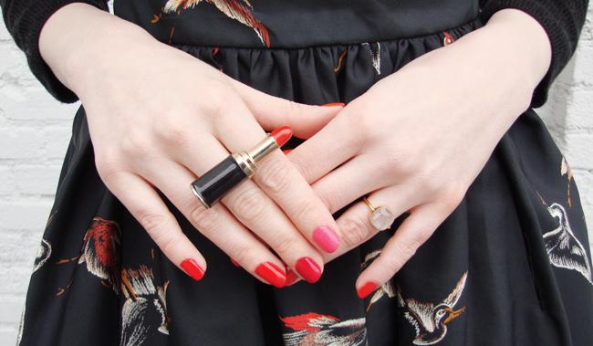 tenebris, hand candy, rose quartz ring