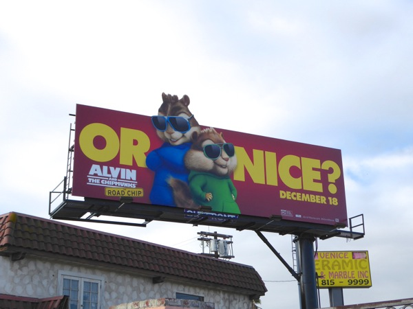 Simon Theodore Or nice Chipmunks billboard