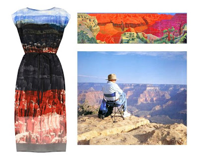 Warehouse Canyon Dress - Hockney