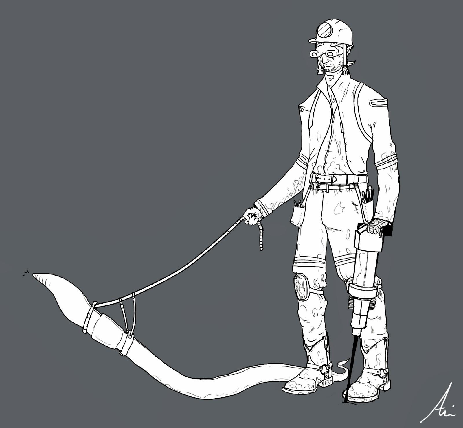 Gnomon Character Concept Design : Gnomon term character design final ari flesch