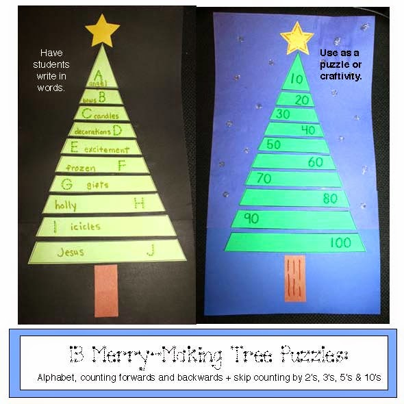 Christmas Tree Puzzle Packet