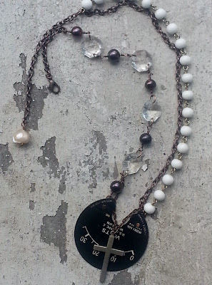 vintage recycled necklace