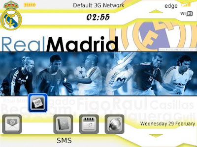 Tema Blackberry Real Madrid Themes