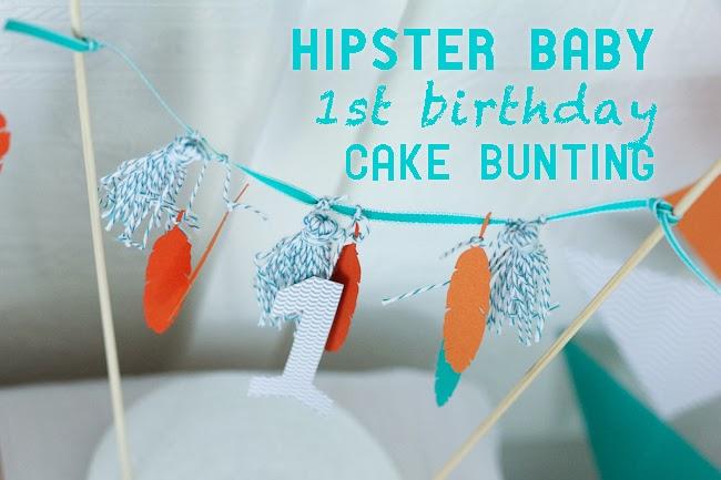 hipster baby boy first birthday cake bunting