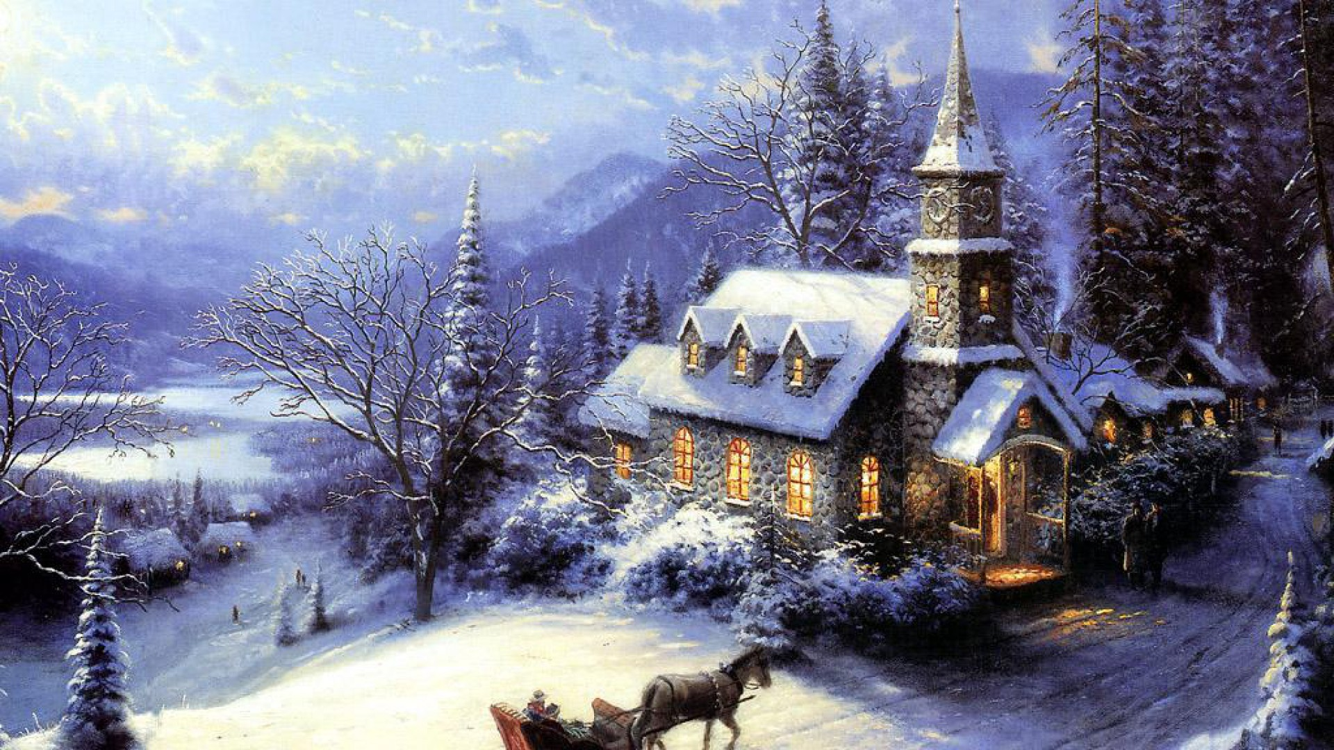Christmas in an alpine village