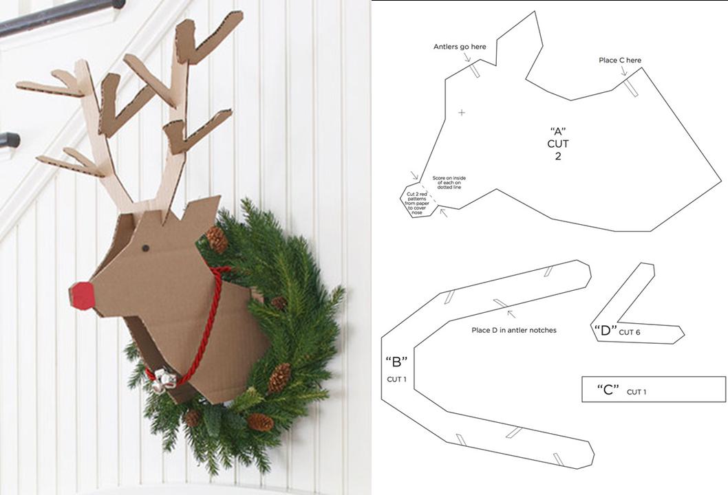 Decoraci n f cil diy renos para navidad - Adornos de navidad en carton ...