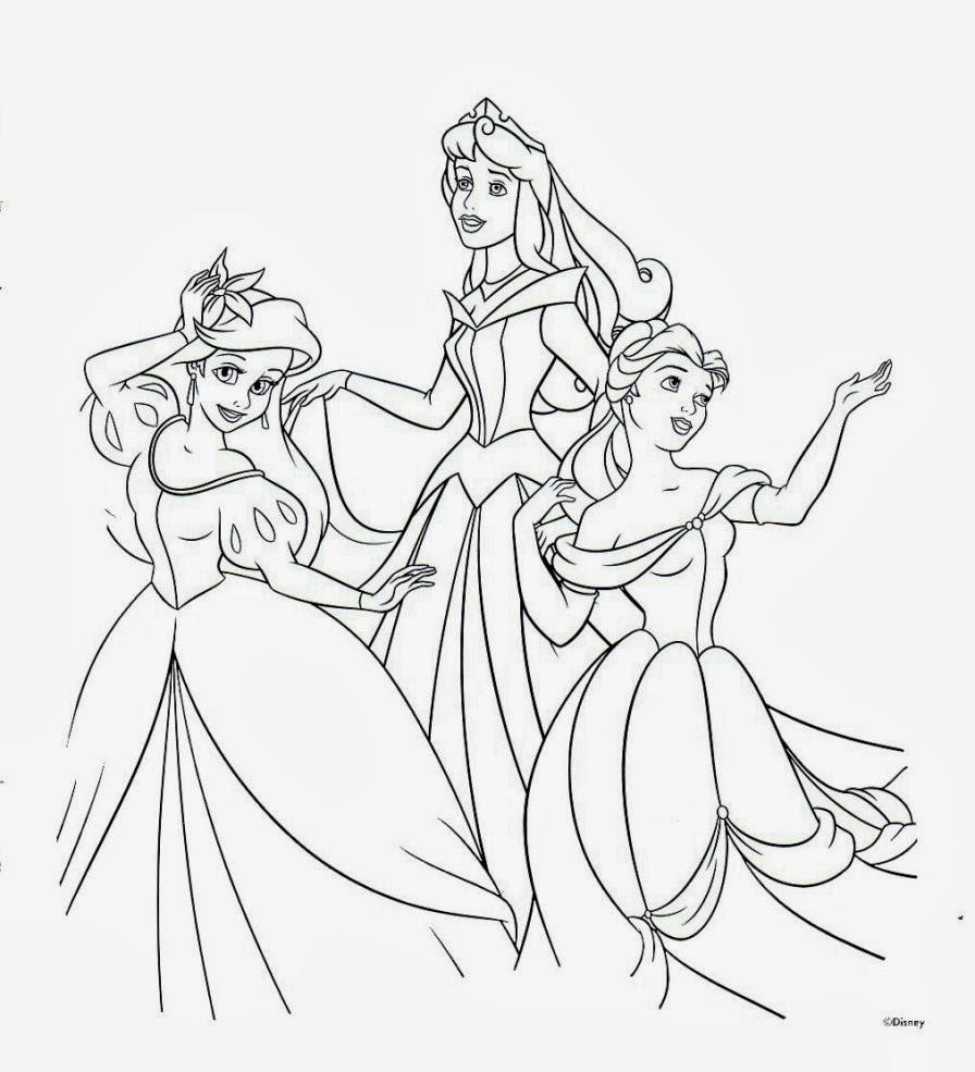Prinzessin zum ausmalen - Ausmalbilder Prinzessin Kostenlos Ausdrucken