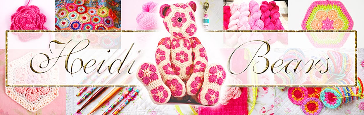 Heidi Bears African Flower Hexagon Crochet Tutorial