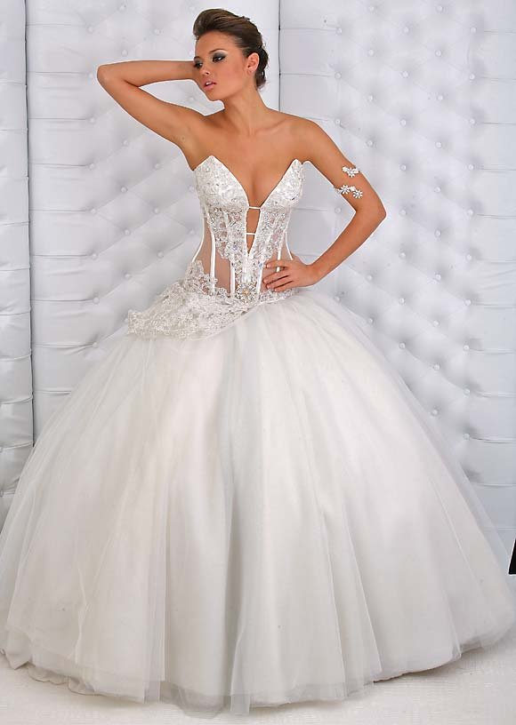 Wedding Gowns With Designs : Transparent white wedding dresses design dress