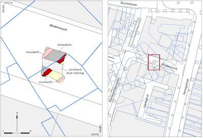Gedigitaliseerde sporen van Wintersoord gecombineerd met de historsche kaart 'Nijmegen 1944'