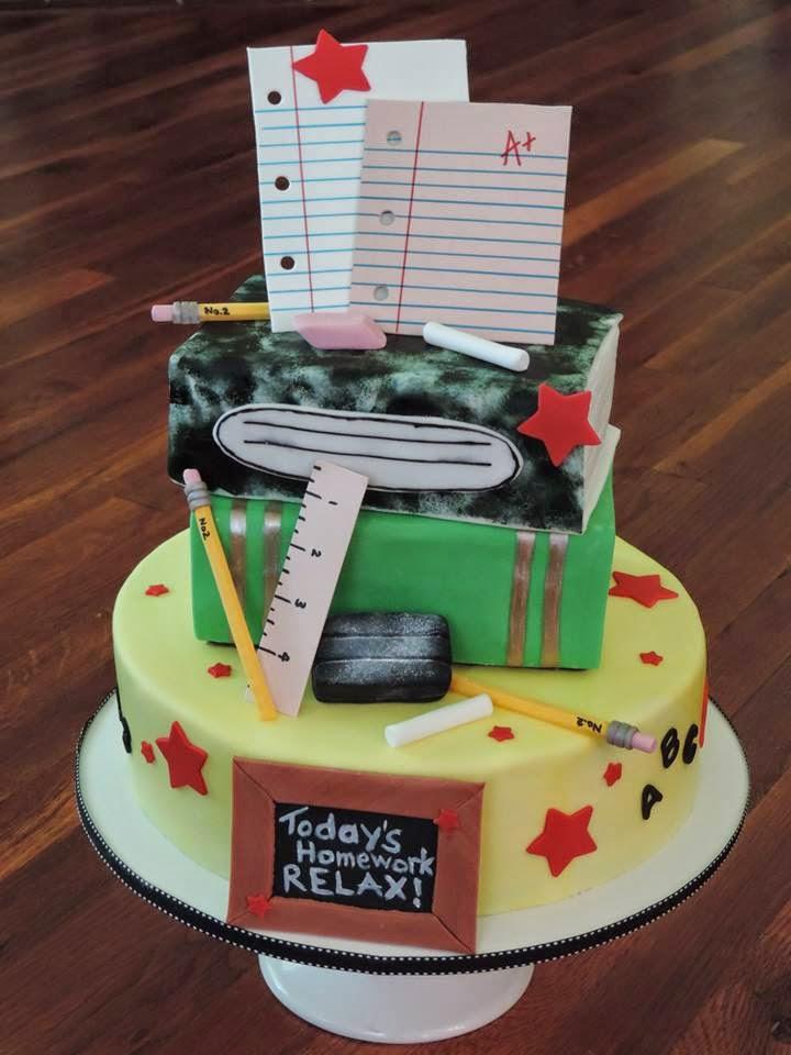 Cake Decorating Ideas For New Job : Cakes by Becky: Teacher Retirement Celebration Cake