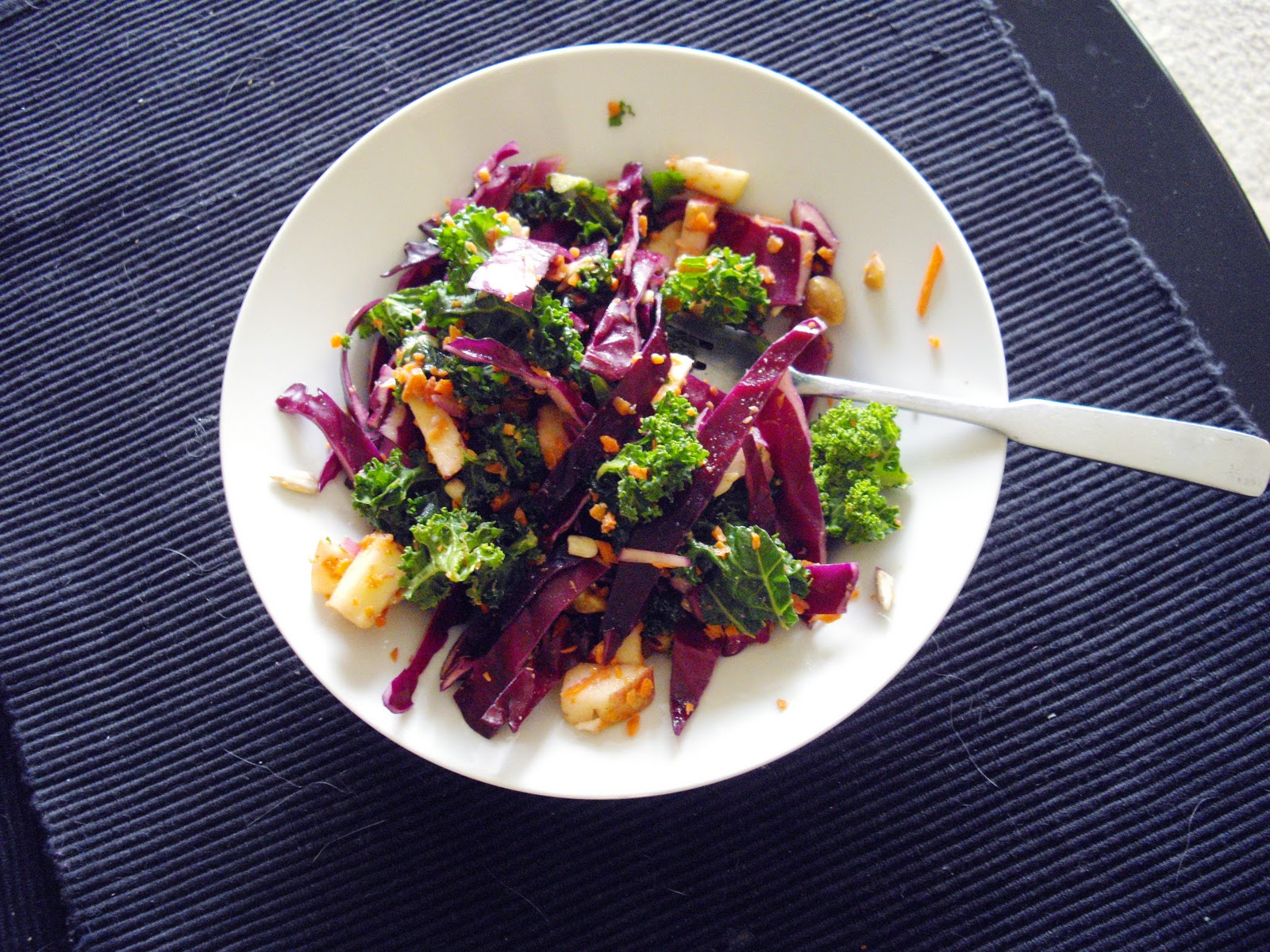 Red Cabbage & Kale Slaw   cooking ala mel