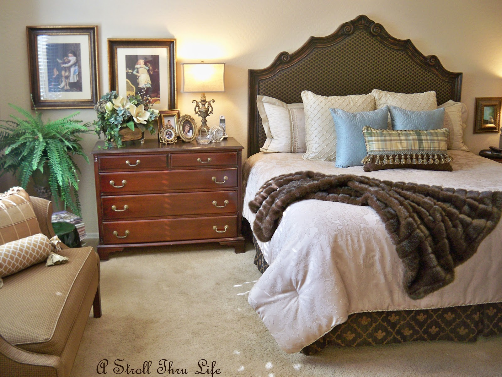 Master Bedroom Up Or Down a stroll thru life: one room down - - master bedroom