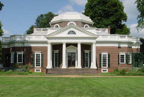 The devoted classicist historic paint color at monticello for Thomas jefferson house monticello