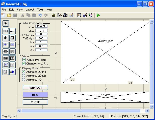 Membuat gui untuk sistem persamaan differensial menggunakan metode pada tampilan gui diatas y0 adalah kondisi awal sistem t start waktu awal t end waktu akhir ab dan c adalah parameter sistem displayplot untuk ccuart Choice Image