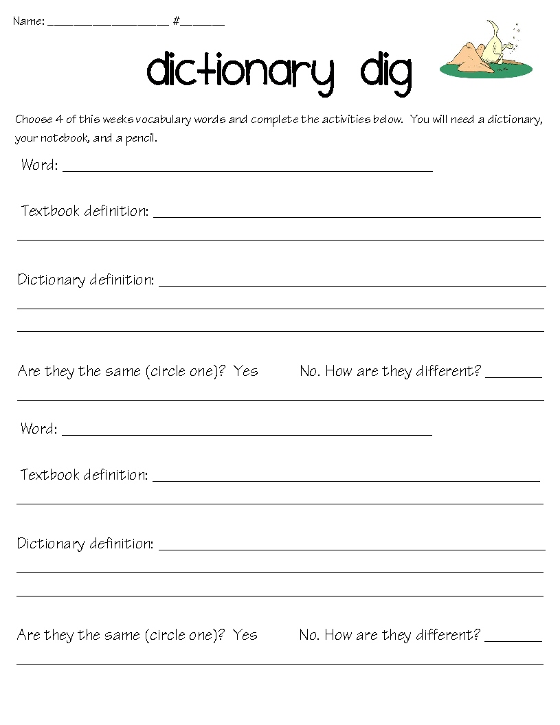 Free Worksheet Dictionary Worksheets super pig and tyrant king it was a word work week i made these new activities to add the fun you can get free copy of any worksheets here