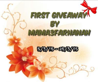 Giveaway by Mama3Farhanah