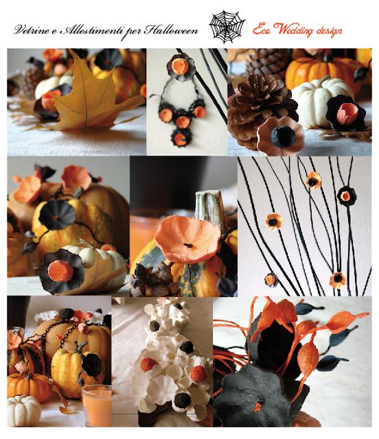 allestiementi ecologici per halloween, decorazioni