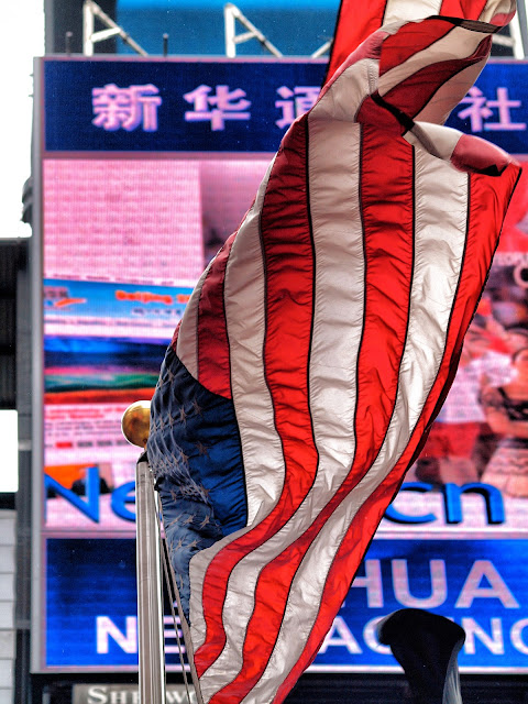 American Flag, Times Square, New York City