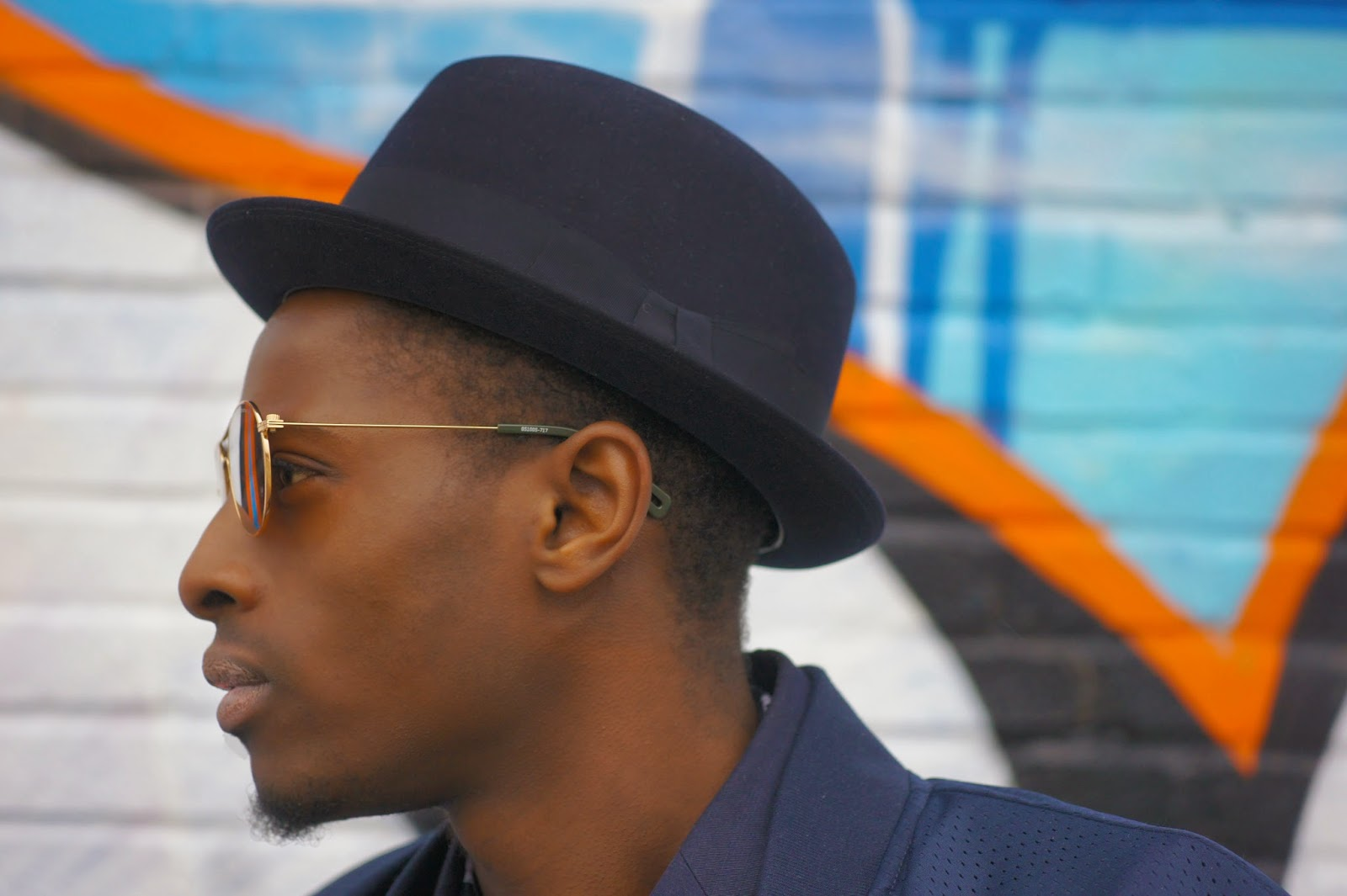 Dapper Hot Boy with gold G-STAR RAW sunglasses HAT