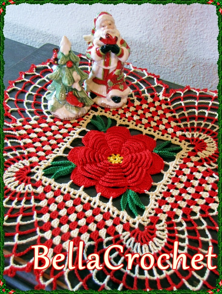 Free Crochet Cotton Christmas Patterns : BellaCrochet: Country Christmas Doily: A Free Crochet ...
