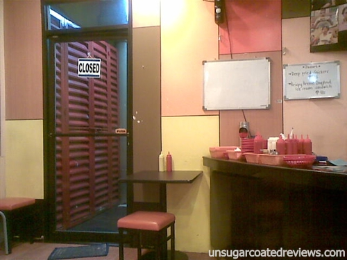 entrance door Zark's Burgers Taft Avenue, Manila