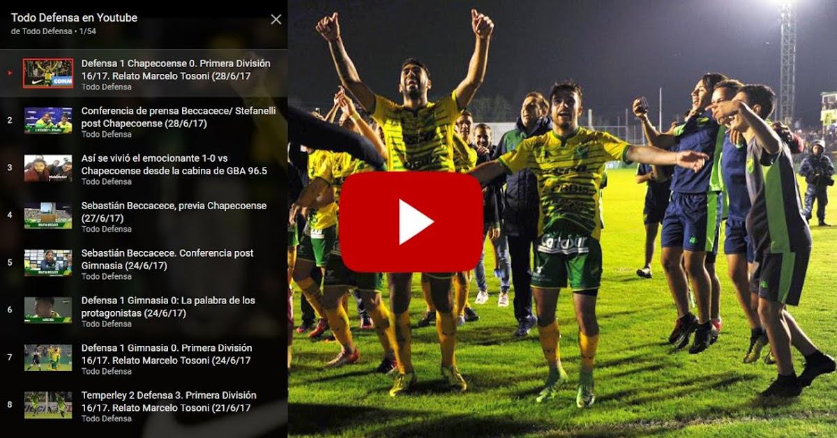 Suscribite a nuestro canal de Youtube: @tododefensatv