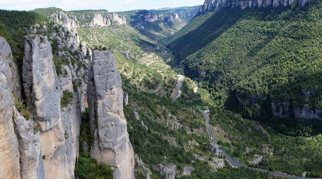 paysage de gorges vue de haut