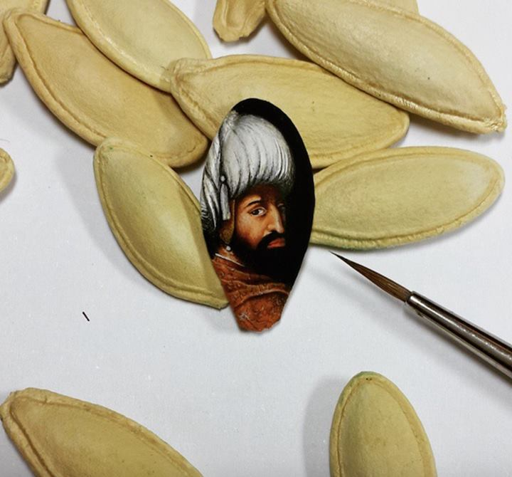 Detailed Paintings on Small Surface by Hasan Kale