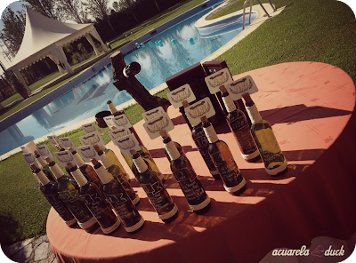 botellas vino boda
