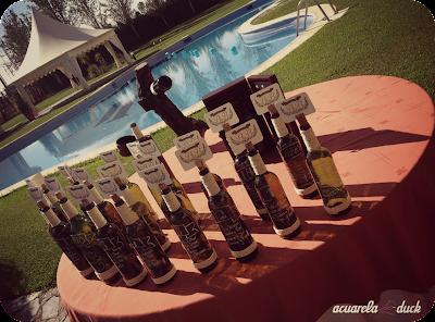 botellas vino boda