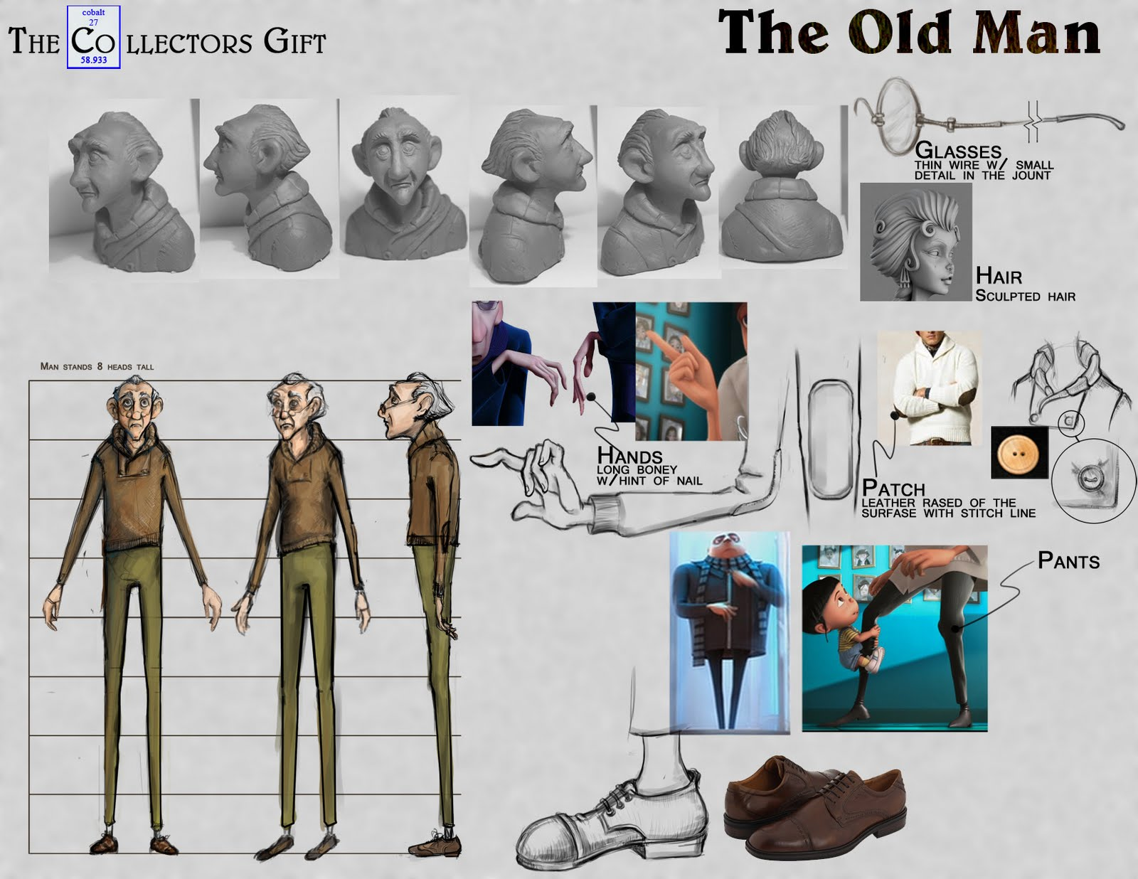 Character Design Man : Kravetzcreative character design the old man