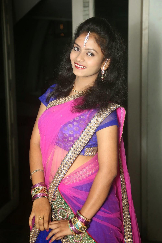 Young actress Jaya Harika in half saree-HQ-Photo-12