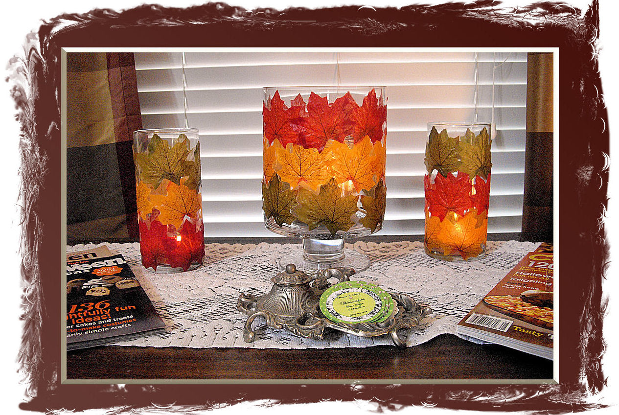 Shannon\'s Shanonigins: Autumn Leaf Luminaries