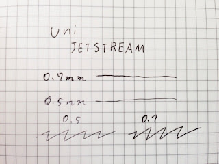 uni JETSTREAM 0.5mm 0.7mm