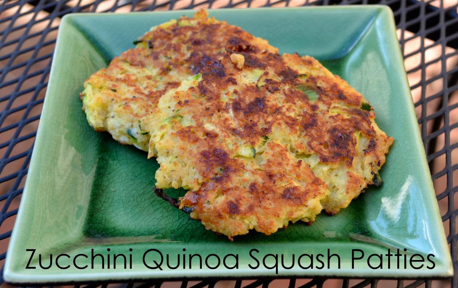 ThriceTheSpice: Zucchini Quinoa Squash Patties