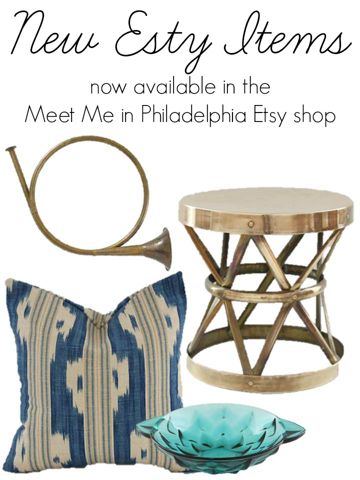 new etsy items via Meet Me in Philadelphia