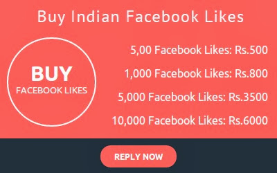 Indian Facebook Likes Price List